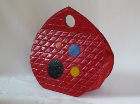 mini sac a a main rond rouge couleurs