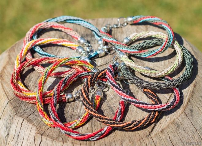 Bracelets tressés, angélique zrak